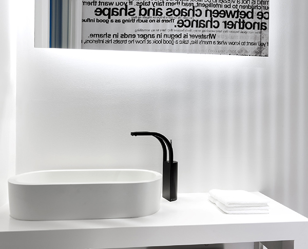 bathroom black white modern