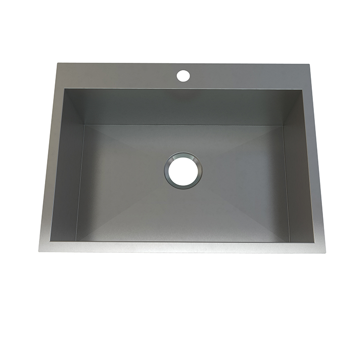 Atelier stainless steel single bowl - flushmount