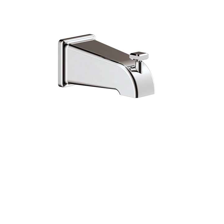 "5 1/2"" square tub spout with diverter"