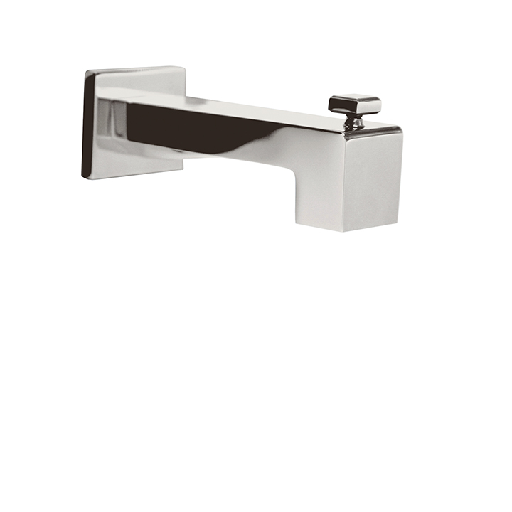 "5 1/4"" square tub spout with diverter"