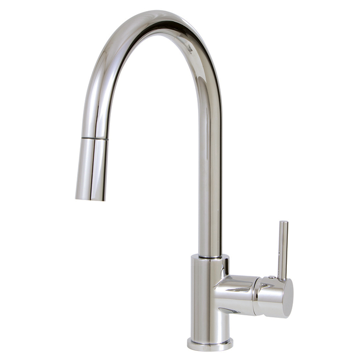 Aquabrass | Pull-down single stream mode kitchen faucet