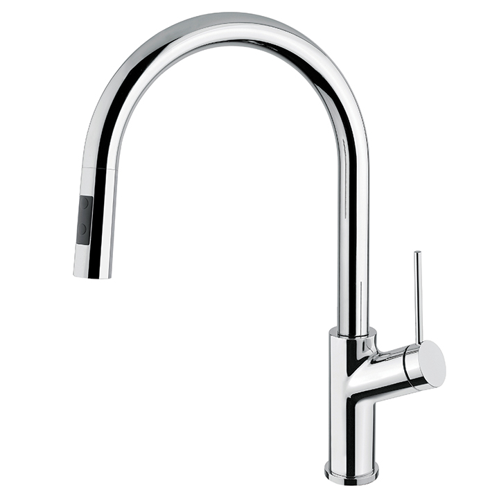 Aquabrass | Pull-down dual stream mode kitchen faucet