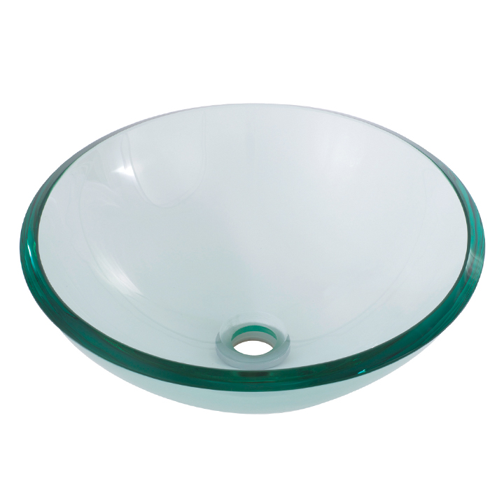 ... Bathroom Baths & Basins Glass Basins Round clear tempered glass basin