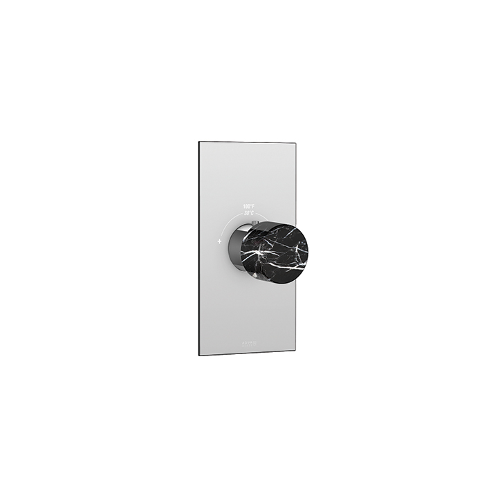 Marmo square trim set for thermostatic valves #12000 and #3000