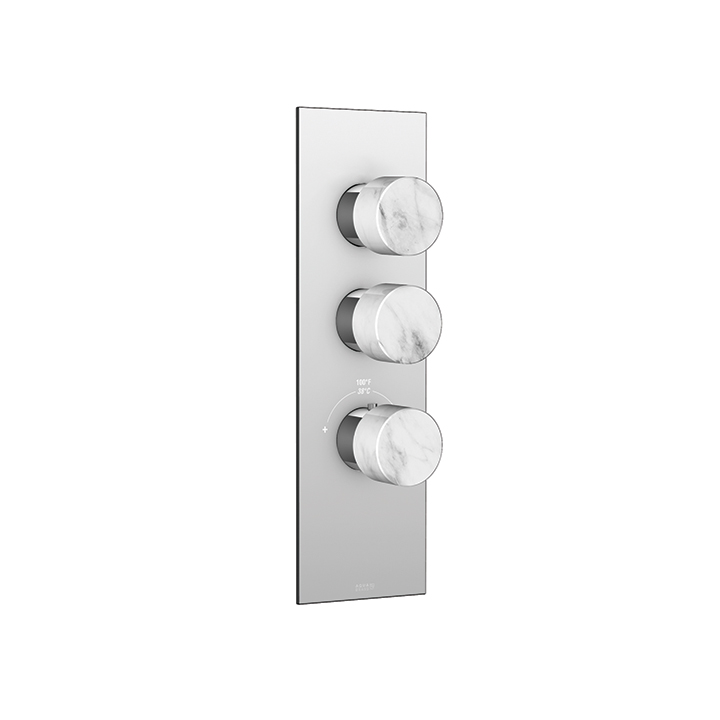 Marmo square trim set for thermostatic valves #12002 and #3002