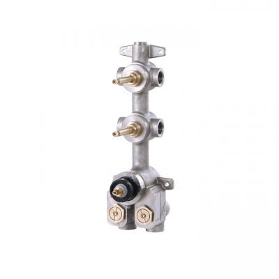"DEMI-TOTEM 1/2"" thermostatic valve with 2 shut-off valves"