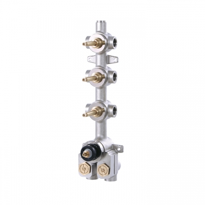 "DEMI-TOTEM 1/2"" thermostatic valve with 3 shut-off valves"