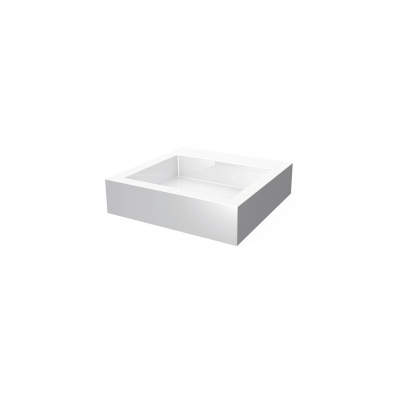 Lugano square countertop basin - no hole