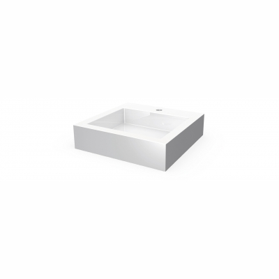 Lugano square countertop basin - 1 hole