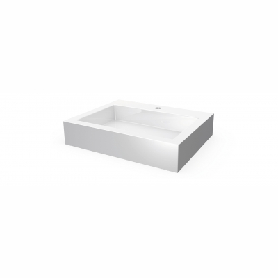 Lugano rectangular countertop basin - 1 hole