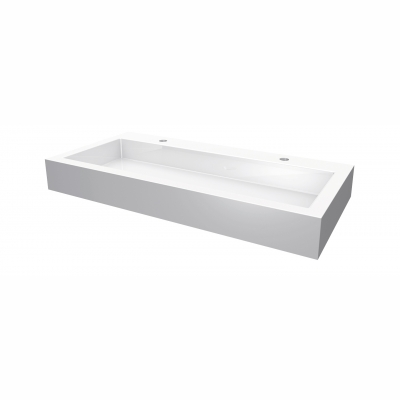 Lugano square countertop basin - 2 holes