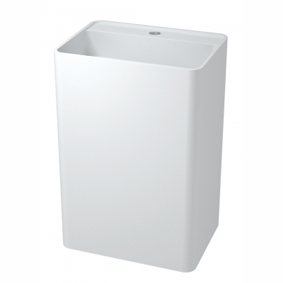 Denali free-standing rectangular basin with platform