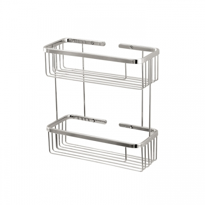 Two tier rectangular basket