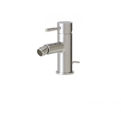 Single-hole bidet faucet with swivel spray
