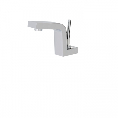 Under counter single-hole lavatory faucet