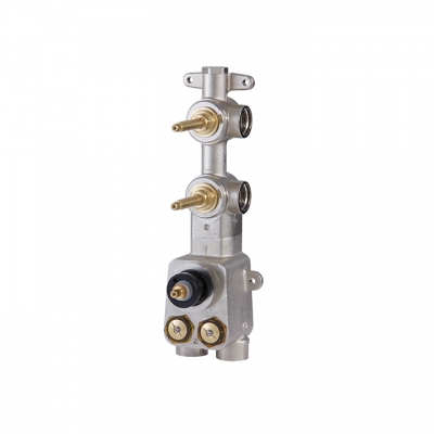 "TOTEM 3/4"" thermostatic valve with 2 shut-off valves"