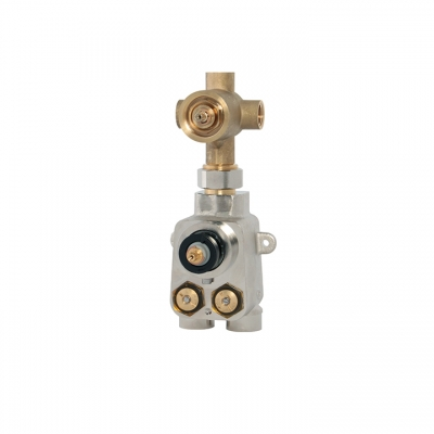"TOTEM 3/4"" thermostatic valve with 3-way diverter"