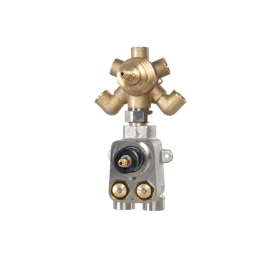 "TOTEM 3/4"" thermostatic valve with 5-way diverter"