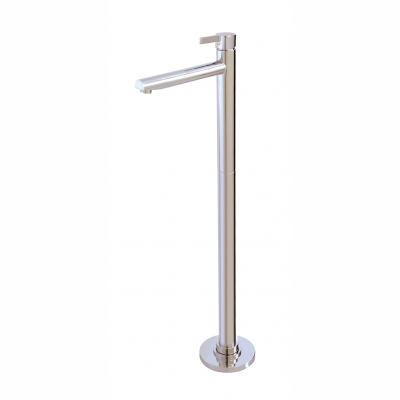 Floormount tub filler