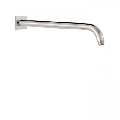 "16"" round shower arm and square flange"