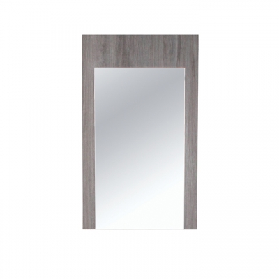 Wallmount mirror with beach wood frame