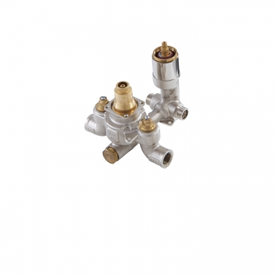 "TREVI 1/2"" thermostatic valve with 2-way diverter"