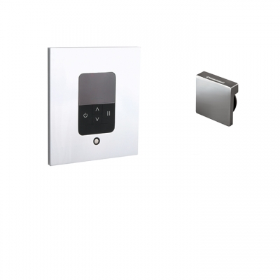 Aquasteam digital in-shower control and steamhead