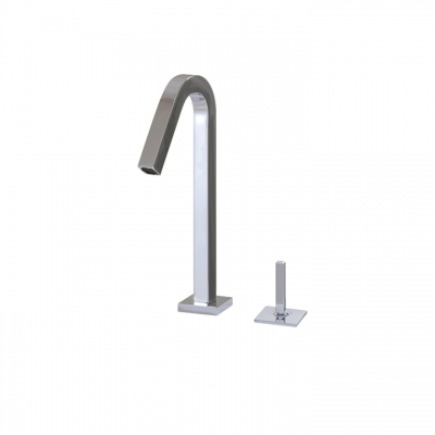 2-piece lavatory faucet with side joystick